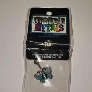 Butterfly belly ring 14 Gage.Sealed package